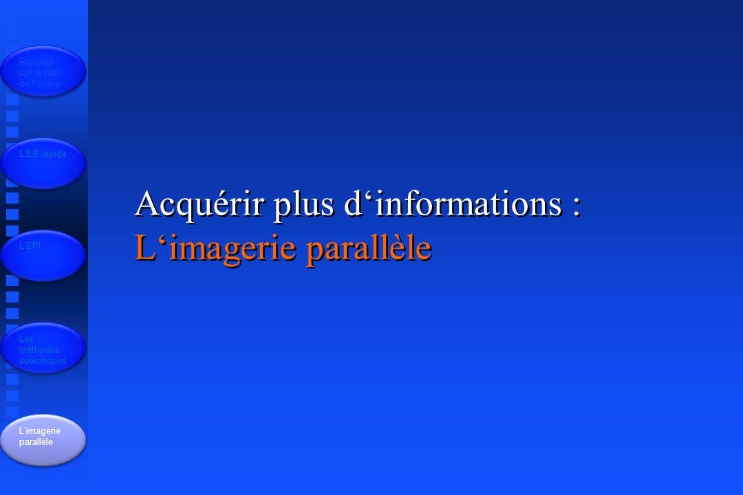 Acquérir plus d'informations : L'imagerie parallèle