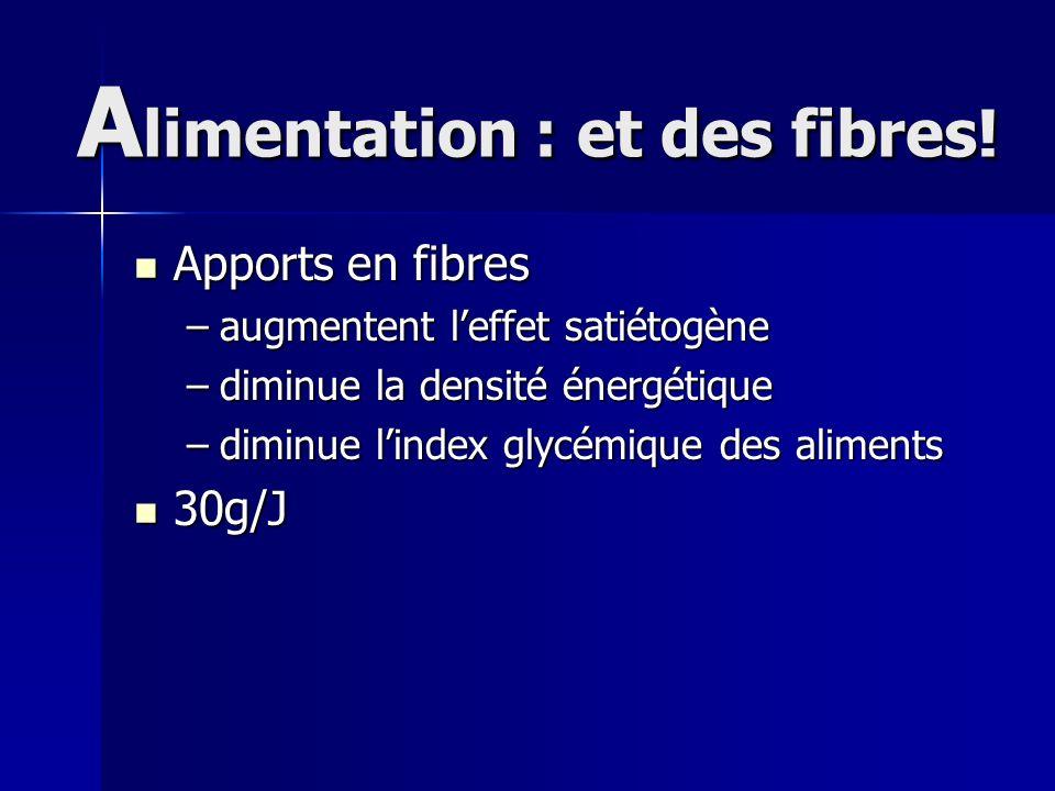 Alimentation : et des fibres!