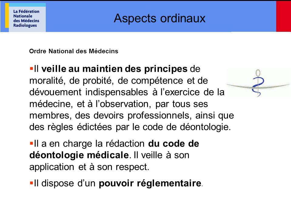 Aspects ordinaux Ordre National des Médecins.