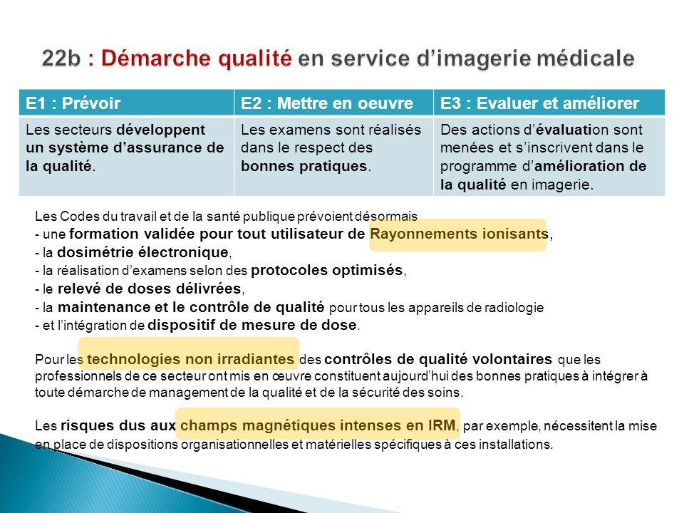 22b : Démarche qualité en service d'imagerie médicale