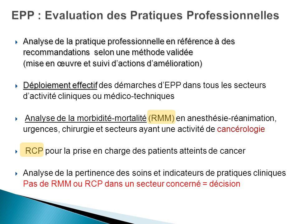 EPP : Evaluation des Pratiques Professionnelles