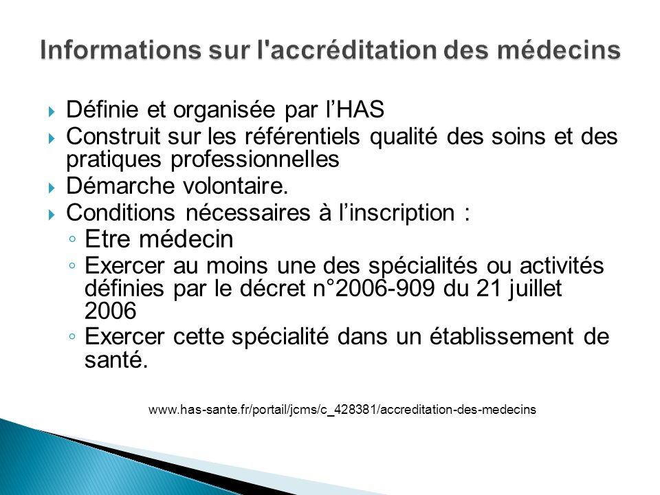Informations sur l accréditation des médecins