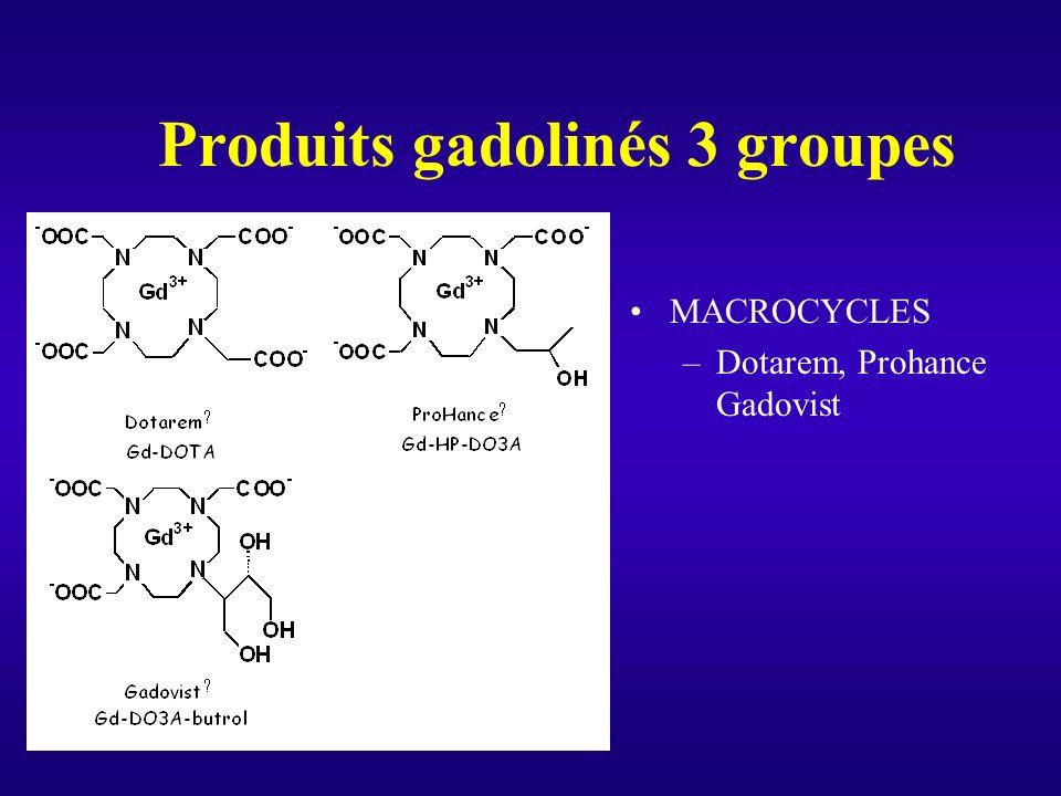 Produits gadolinés 3 groupes