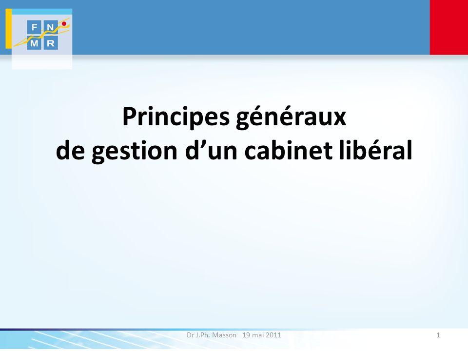 Principes généraux de gestion d'un cabinet libéral