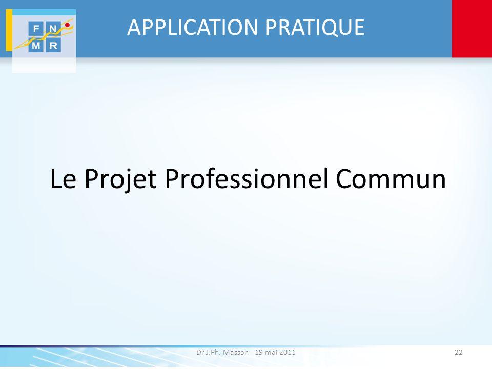 Le Projet Professionnel Commun