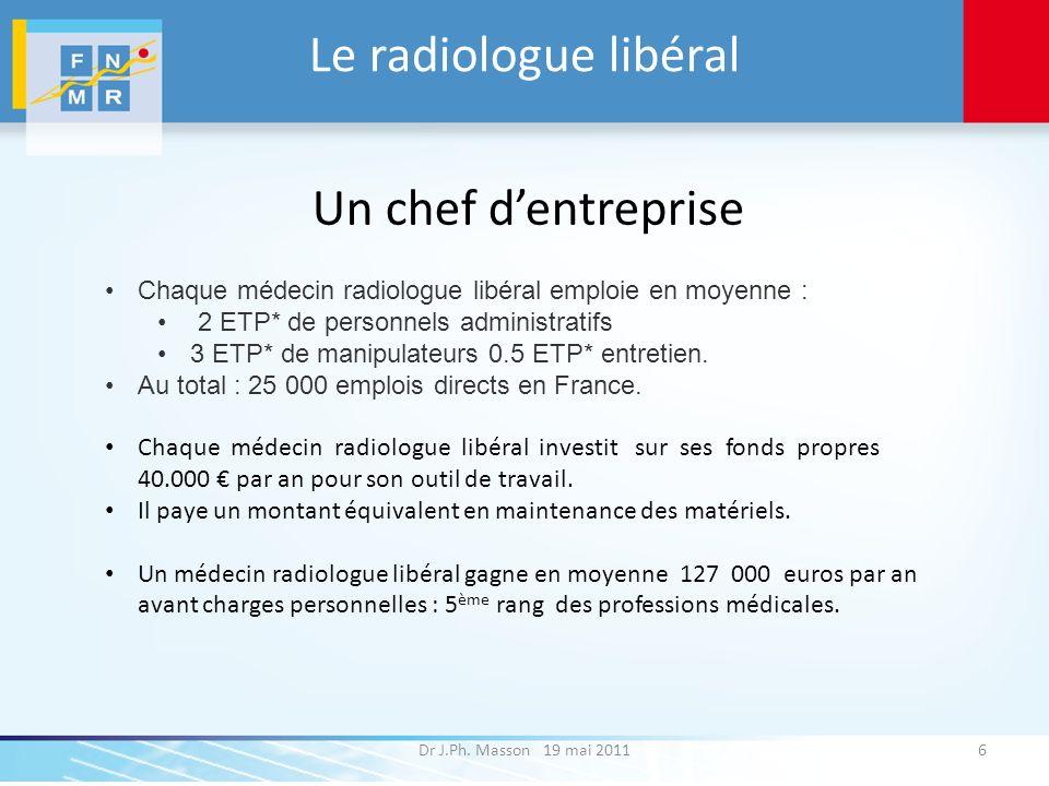 Le radiologue libéral Un chef d'entreprise