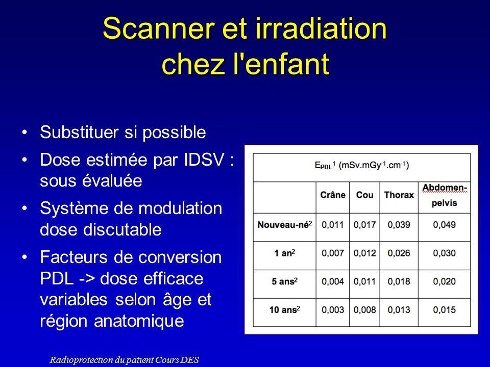 Scanner et irradiation chez l enfant