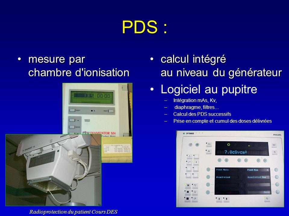 PDS : Logiciel au pupitre mesure par chambre d ionisation
