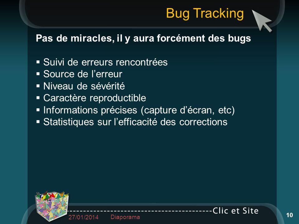 Bug Tracking Pas de miracles, il y aura forcément des bugs