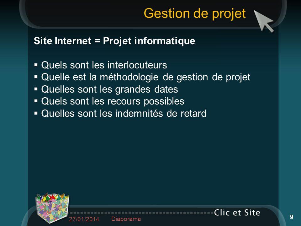 Gestion de projet Site Internet = Projet informatique