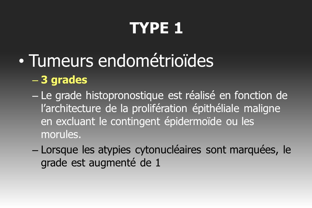 Tumeurs endométrioïdes