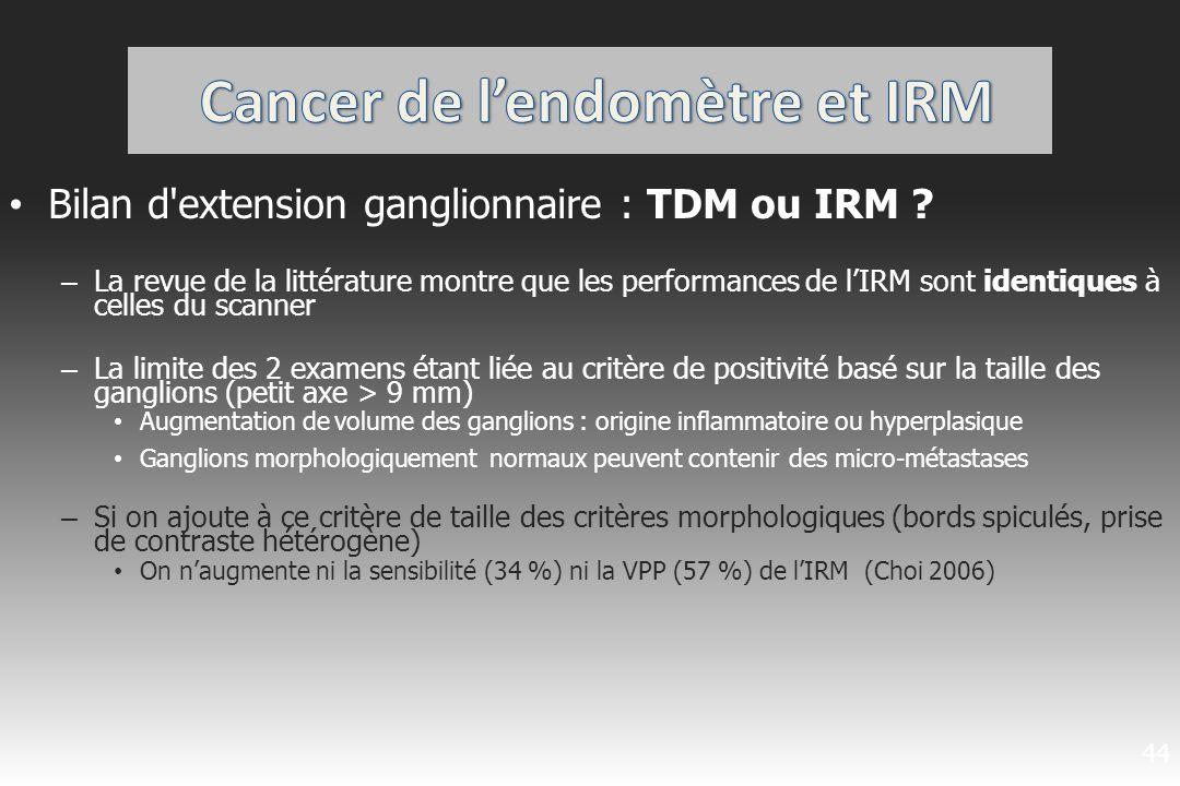 Cancer de l'endomètre et IRM