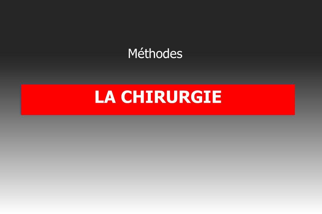 Méthodes LA CHIRURGIE