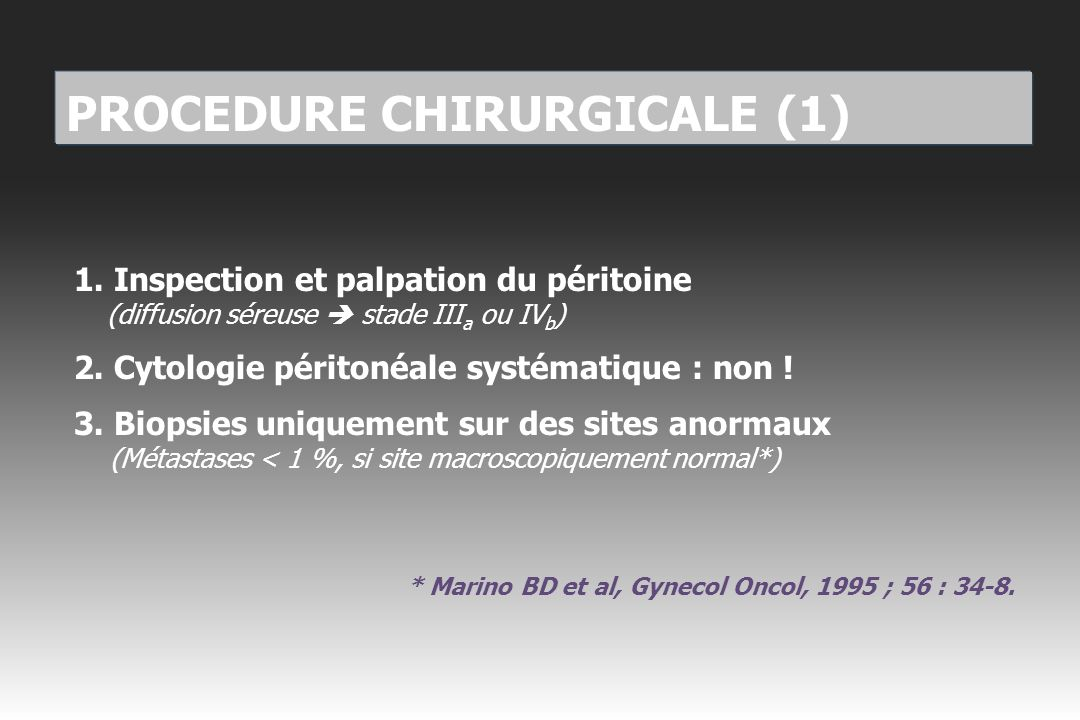 PROCEDURE CHIRURGICALE (1)