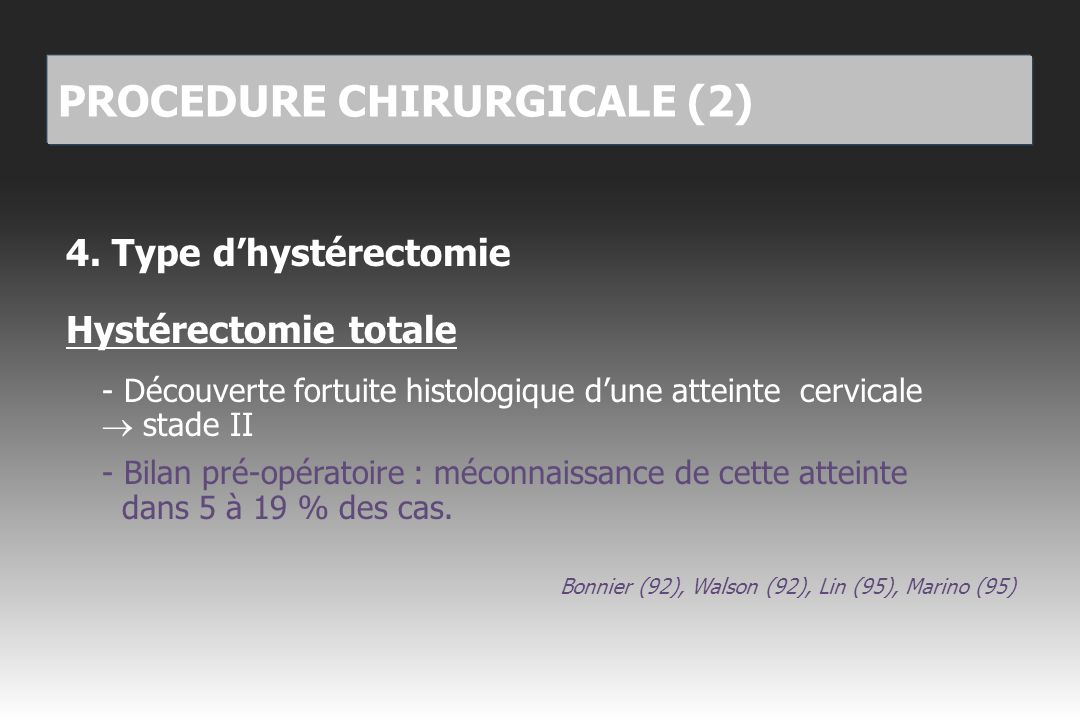 PROCEDURE CHIRURGICALE (2)
