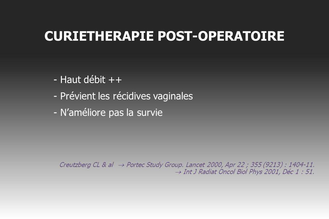 CURIETHERAPIE POST-OPERATOIRE