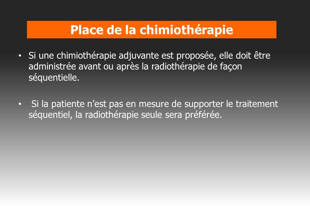 Place de la chimiothérapie