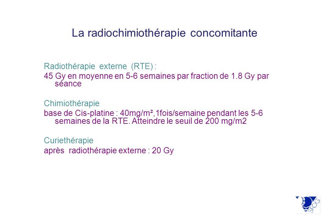 La radiochimiothérapie concomitante