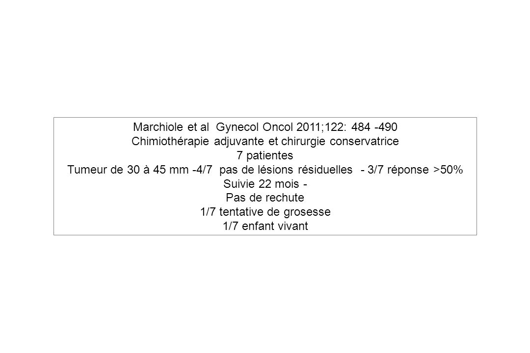Marchiole et al Gynecol Oncol 2011;122: 484 -490