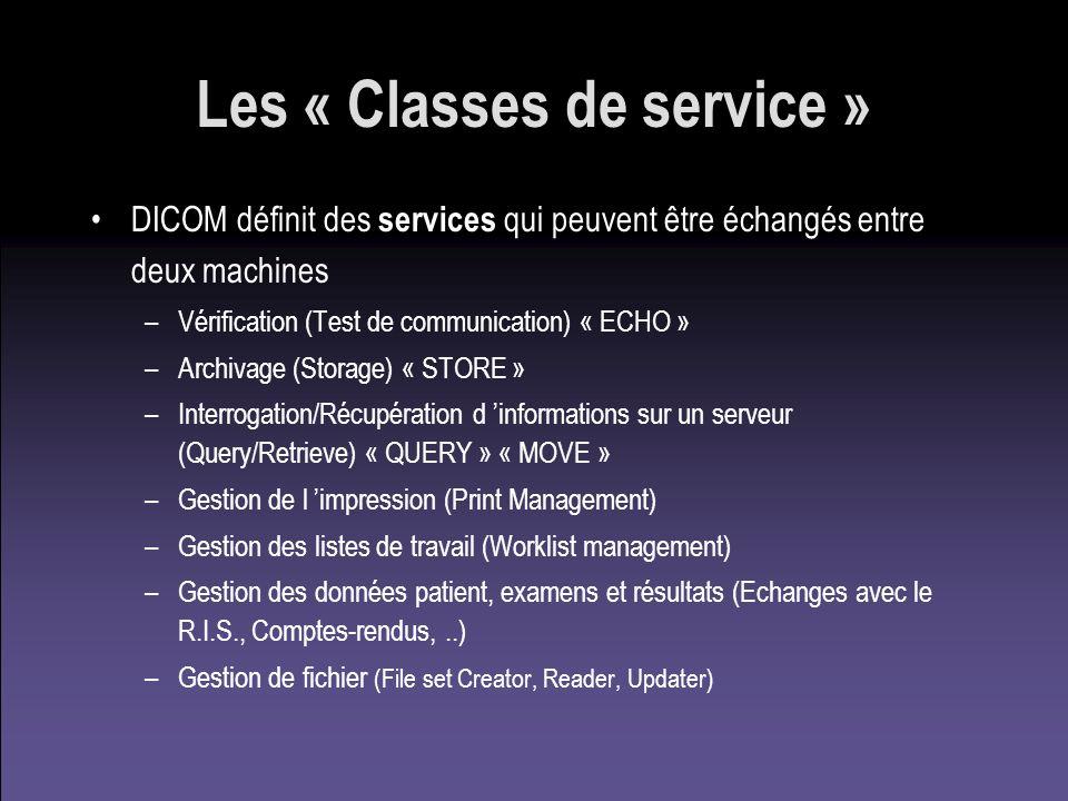 Les « Classes de service »