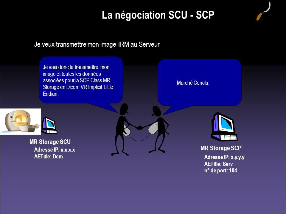 La négociation SCU - SCP