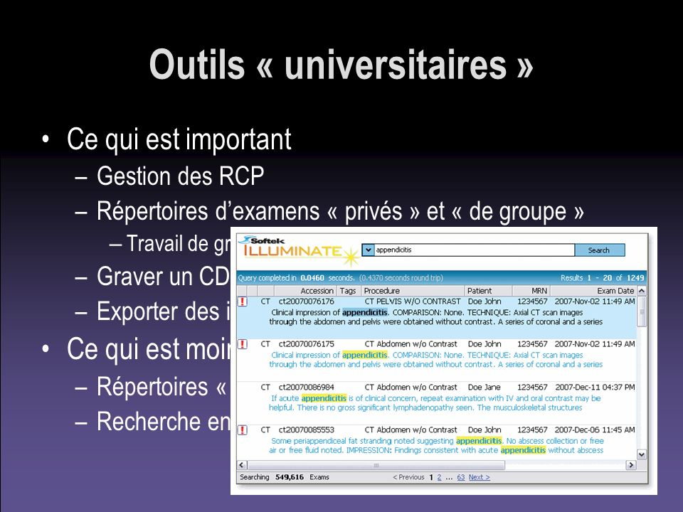 Outils « universitaires »