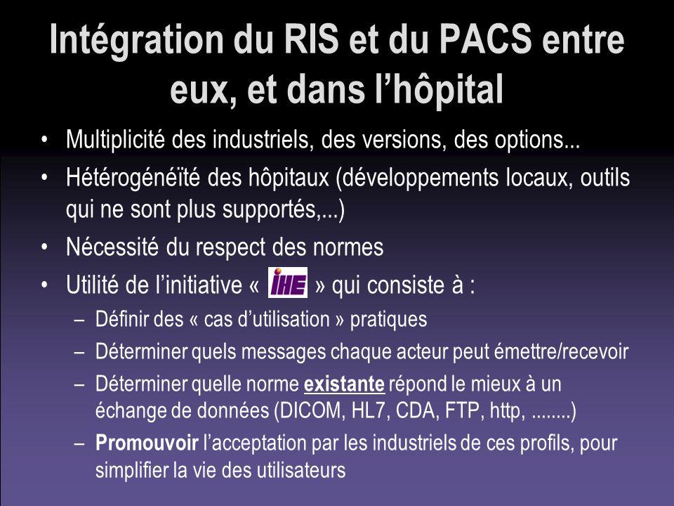 Intégration du RIS et du PACS entre eux, et dans l'hôpital