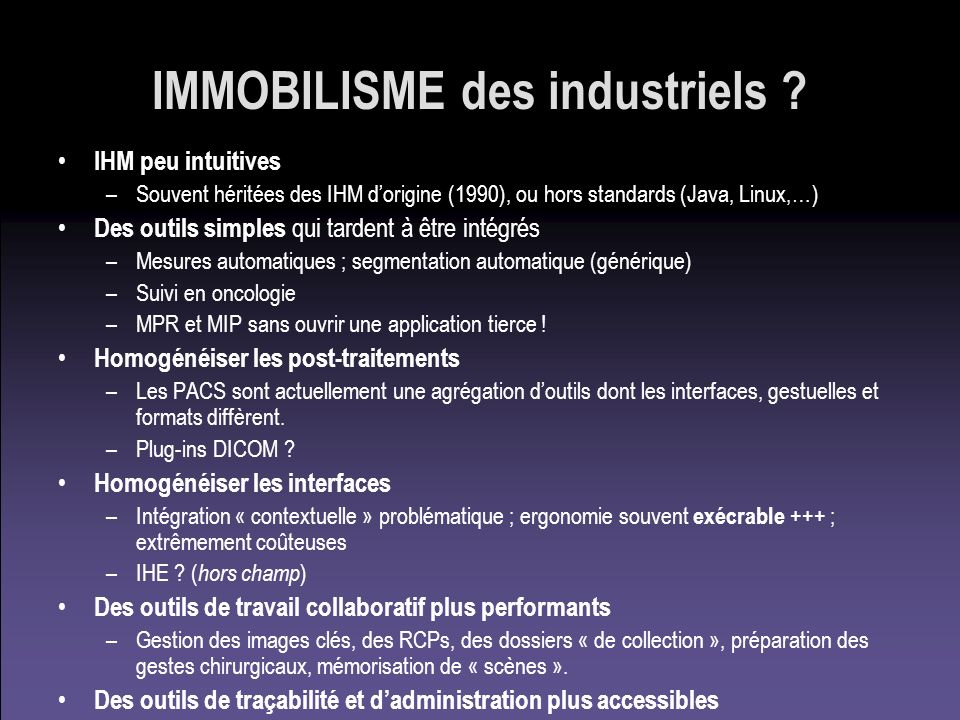 IMMOBILISME des industriels