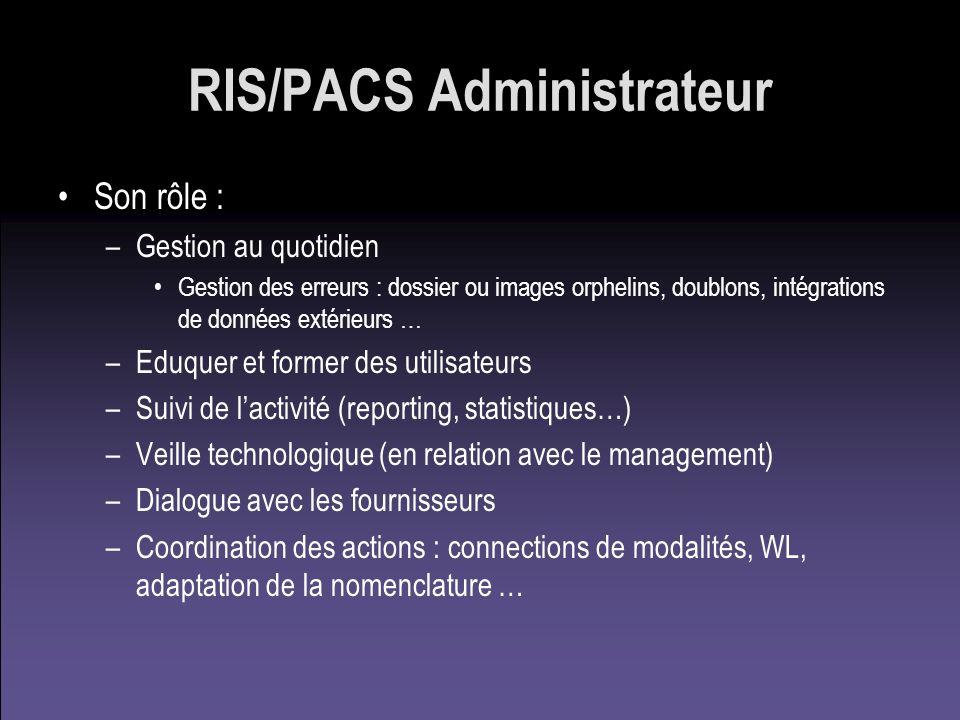 RIS/PACS Administrateur