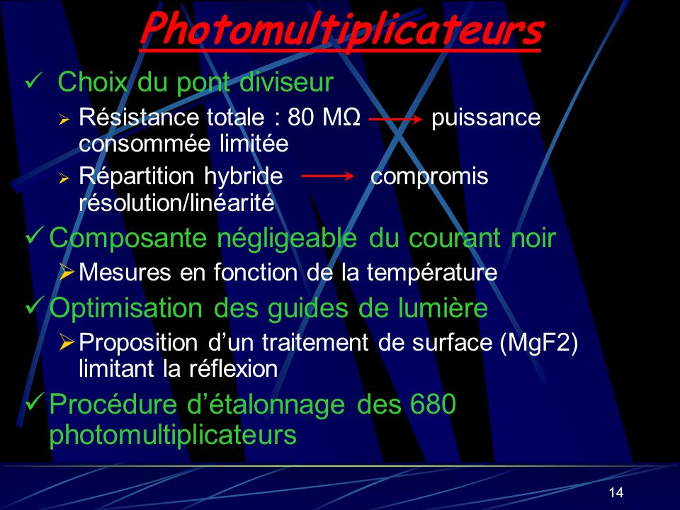 Photomultiplicateurs