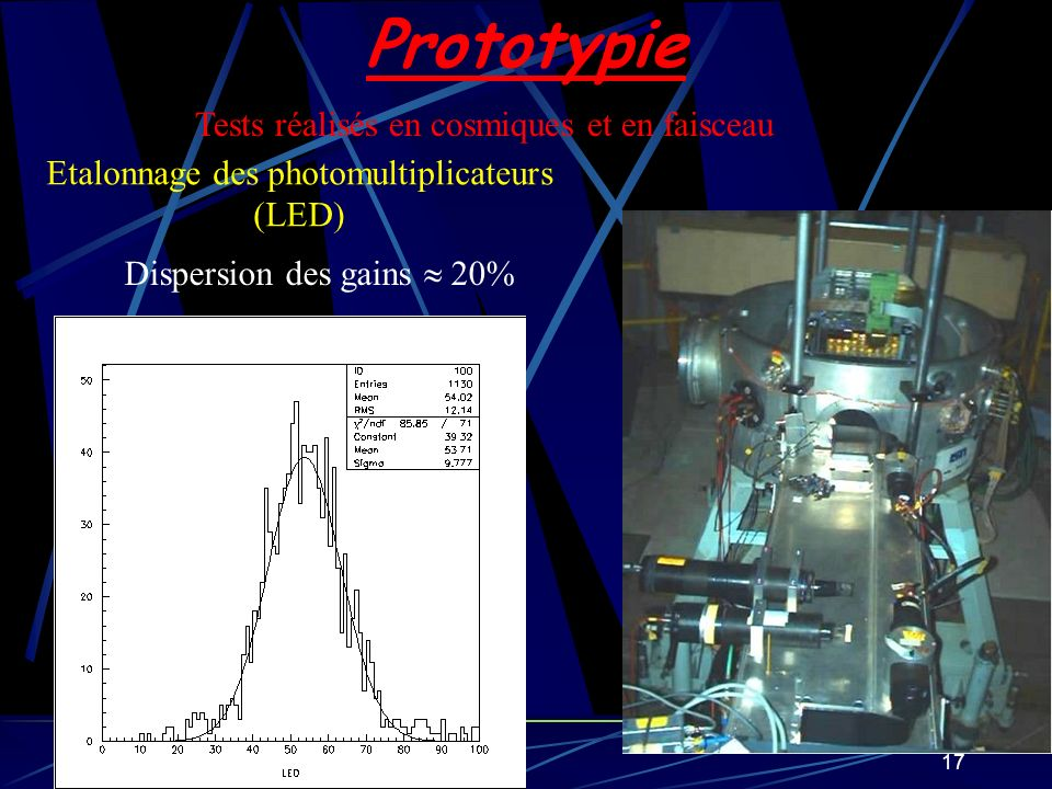 Etalonnage des photomultiplicateurs