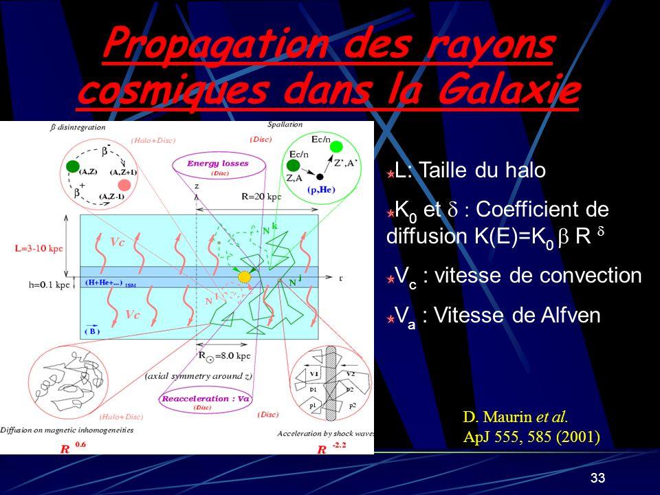 Propagation des rayons cosmiques dans la Galaxie