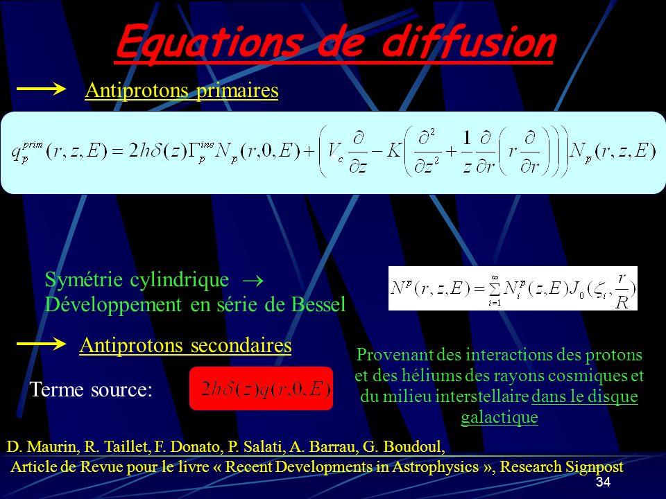 Equations de diffusion