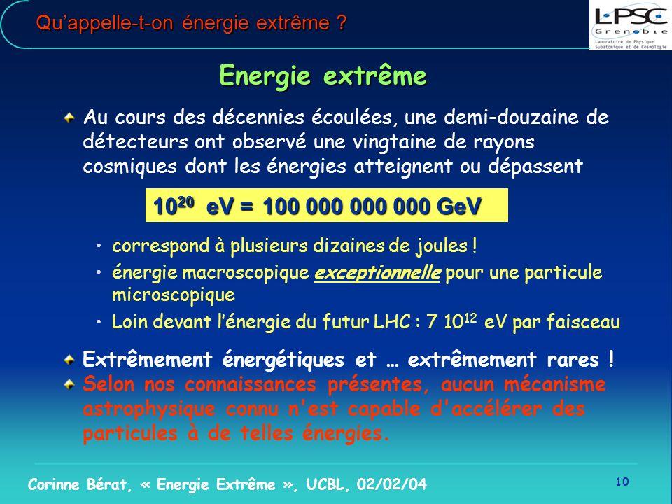 Qu'appelle-t-on énergie extrême