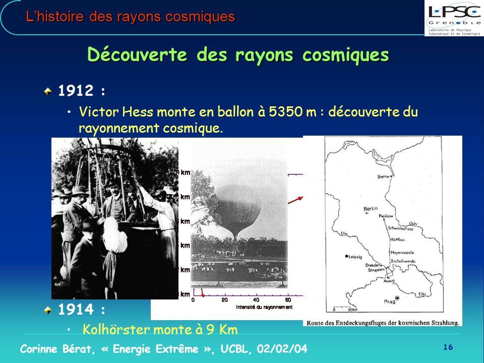 L'histoire des rayons cosmiques