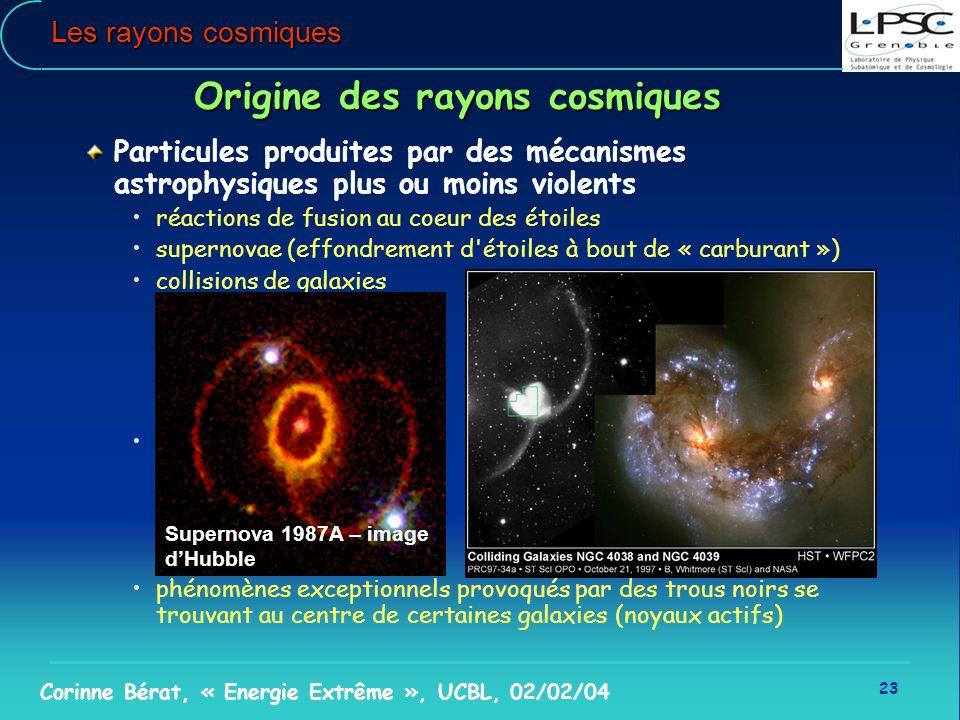 Origine des rayons cosmiques