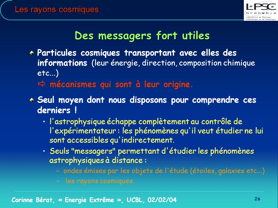 Des messagers fort utiles