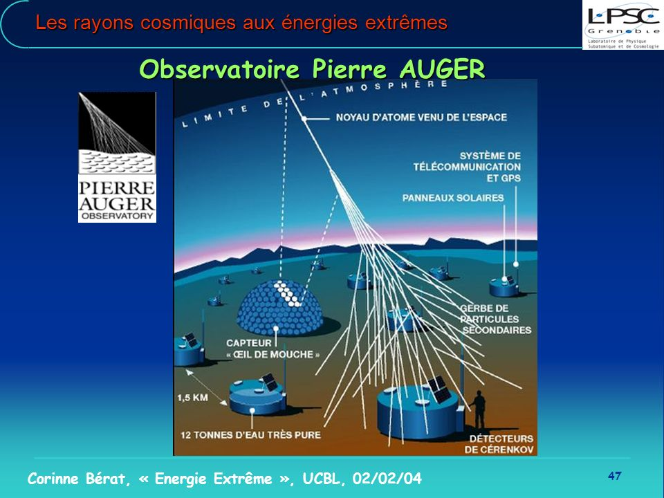 Les rayons cosmiques aux énergies extrêmes