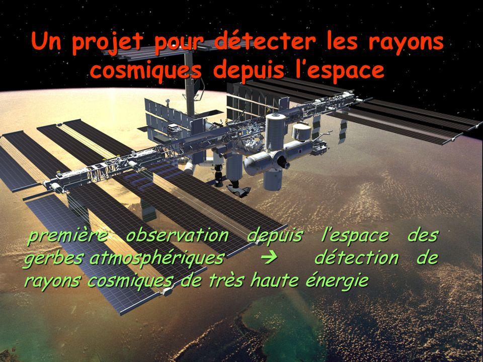 Un projet pour détecter les rayons cosmiques depuis l'espace