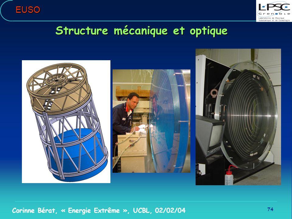 Structure mécanique et optique
