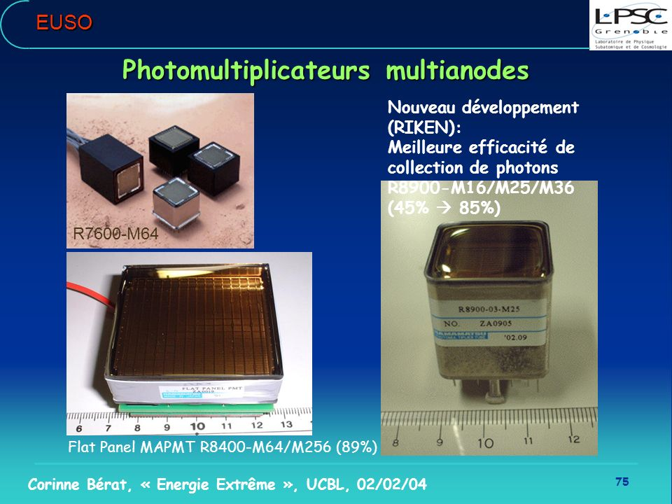 Photomultiplicateurs multianodes