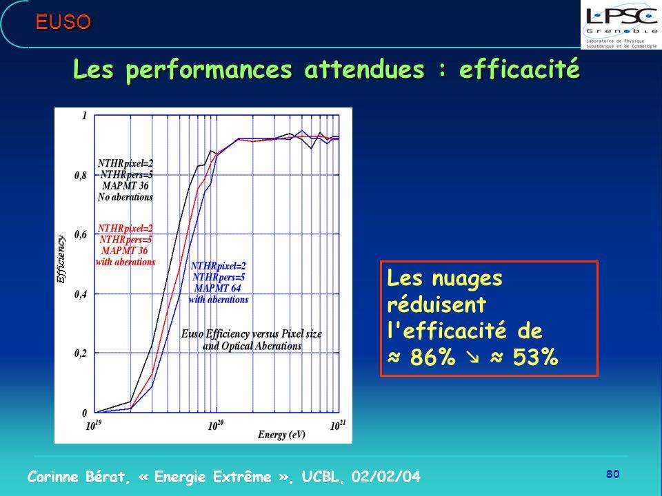 Les performances attendues : efficacité