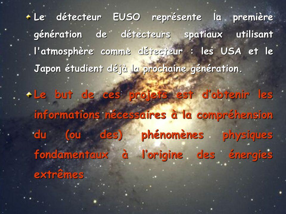 Le détecteur EUSO représente la première génération de détecteurs spatiaux utilisant l atmosphère comme détecteur : les USA et le Japon étudient déjà la prochaine génération.