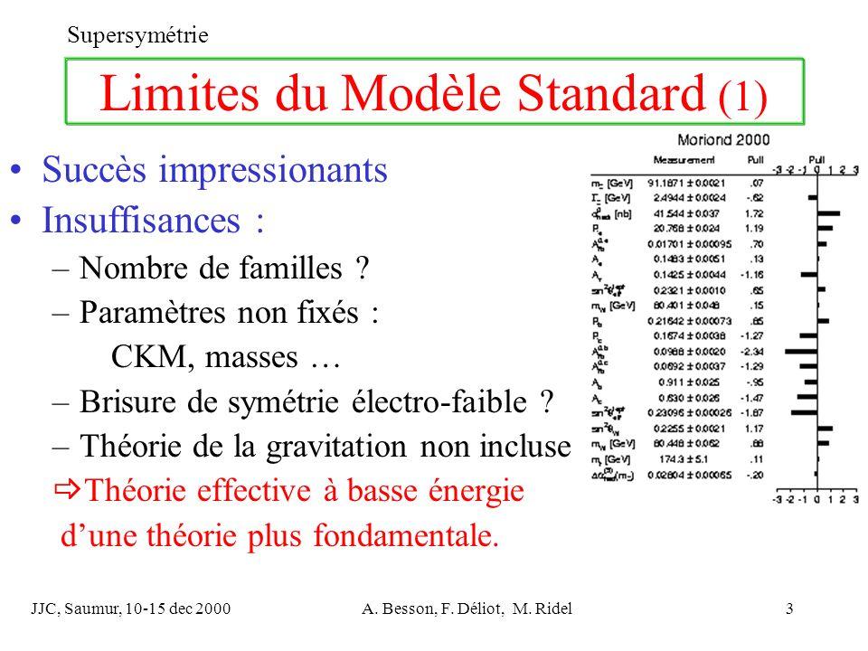 Limites du Modèle Standard (1)