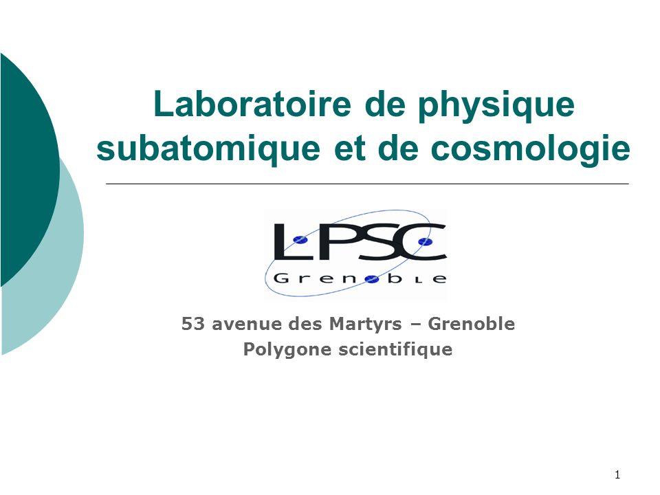 Laboratoire de physique subatomique et de cosmologie