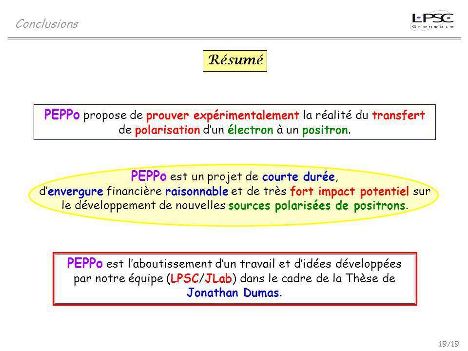 PEPPo est un projet de courte durée,