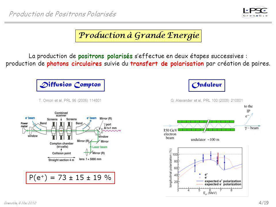 Production à Grande Energie
