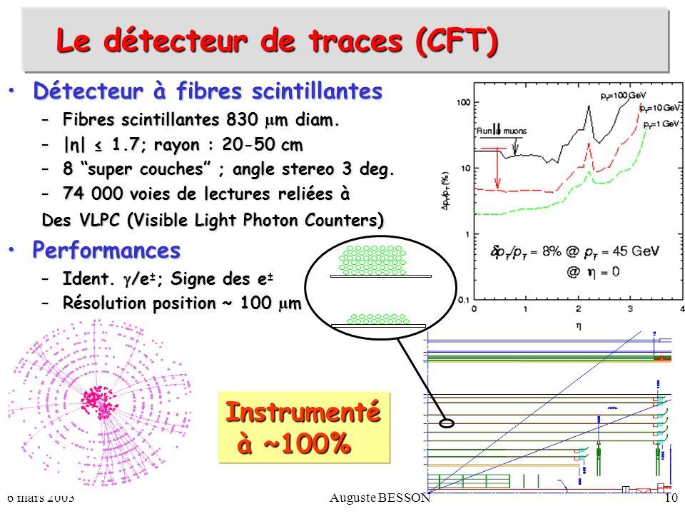 Le détecteur de traces (CFT)