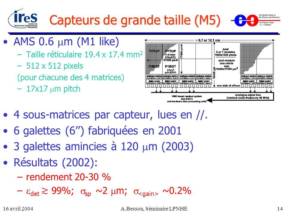 Capteurs de grande taille (M5)