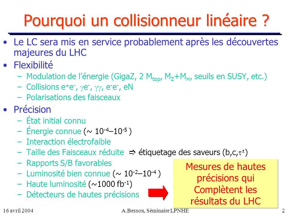 Pourquoi un collisionneur linéaire